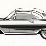 AU 1000 SP coupe prototype tegning 1957